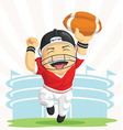 Cartoon of Happy Football Player vector image