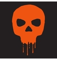 Skull with blood vector image vector image