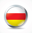 South Ossetia flag button vector image vector image