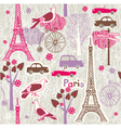 Paris vintage wallpaper vector