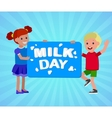 The original concept poster to advertise milk vector image