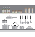Kitchen Equipment Isolated Elements Flat vector image