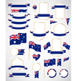 Australian flag decoration elements vector image