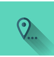 Blue map pointer icon Flat design vector image
