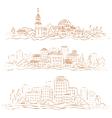 City sepia vector image