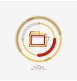 Folder logo stamp Accounting binder vector image