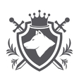 shield with wolf design element vector image