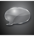 Speech bubble from glass vector image