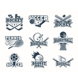 Sports Monochrome Logos vector image