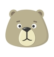 Teddy Bear Mask Isolated Sticker for Toddler vector image