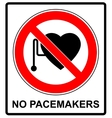 No access with cardiac pacemaker sign vector image