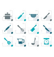 stylized cooking equipment and tools icons vector image vector image