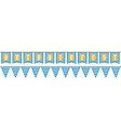 bunting for oktoberfest vector image