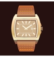 Watches on a dark background vector image