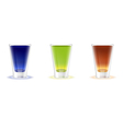 Alcohol shots drinks vector image vector image