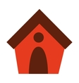 dog house isolated icon design vector image