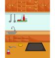 cute kitchen cartoon for you design vector image vector image