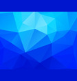 abstract blue polygonal crystal pattern vector image