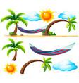beach items and scene on the beach vector image