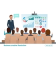 Business professional work team meeting Man vector image