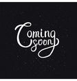 Coming Soon Texts on Abstract Black Background vector image