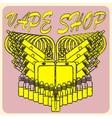 emblem of vape vector image