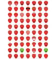 emoticons strawberry vector image