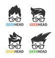 geeks and nerds set of logos vector image