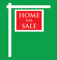 House for sale sign vector image