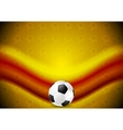 Orange soccer football background with red wave vector image