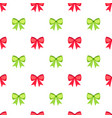 red and green bows seamless pattern vector image