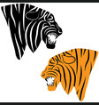 tiger tattoo Tiger head animal vector image