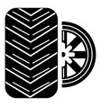tire icon simple black style vector image