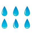 water droplet set vector image