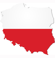 Map of Poland with national flag vector image vector image