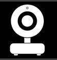 web camera white color icon vector image