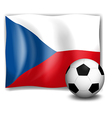 The flag of Czech Republic with a soccer ball vector image