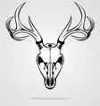 Deer Skull Tribal vector image