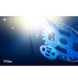 Gear-wheels over lights vector image