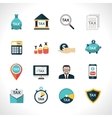Tax Icons Set vector image