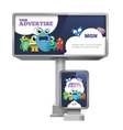 Outdoor advertising billboard and citylight with vector image