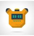 Digital stopwatch flat color design icon vector image