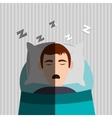 Resting and sleep design vector image