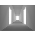 abstract emply hall with opened doors vector image