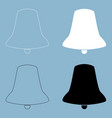 bell the black and white color icon vector image