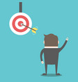 businessman and target vector image