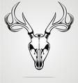 Deer Skull Tribal vector image