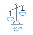 financial risk concept outline icon linear sign vector image