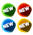 flat design new icons green red blue and yellow vector image