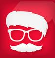icon of a funny santa claus vector image
